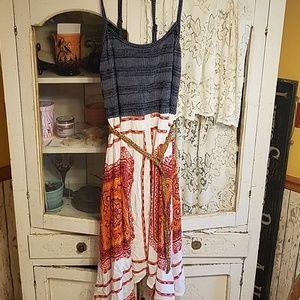 Maurices xxl Bohemian Hanky hem dress